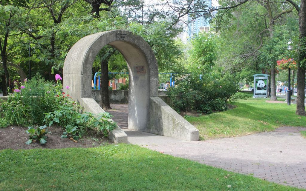 Decorative arch at David Crombie Park